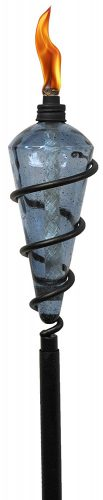 Tiki Swirl Metal Torch - Outdoor Tiki Torches