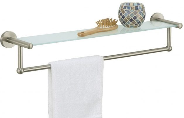 Organize It All Satin Nickel Towel Rack