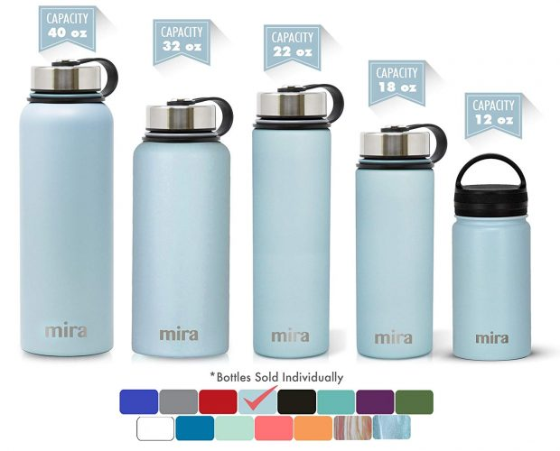 Mira Wide Mouth Stainless Steel Insulated Water Bottle