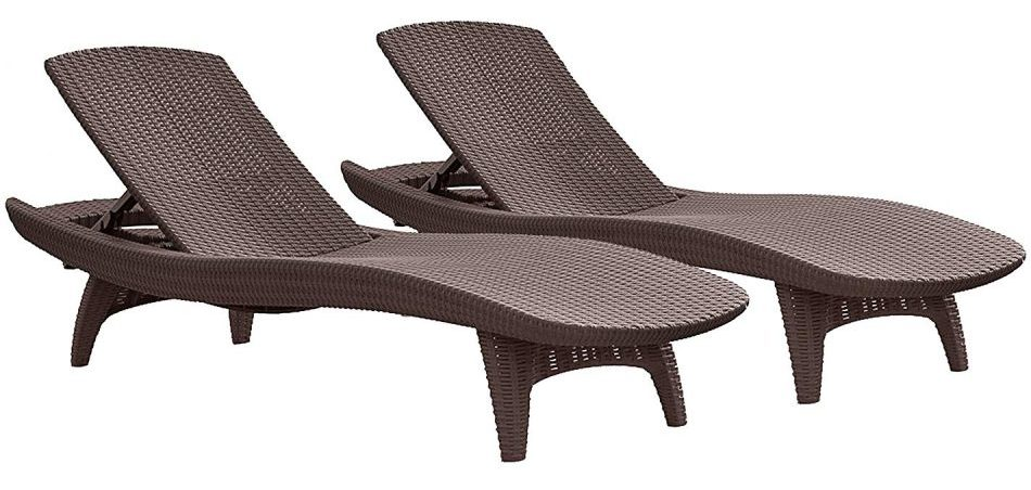 Keter Pacific Lounger - Outdoor Chaise Lounges