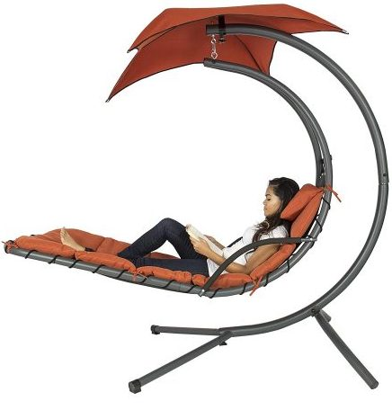 Best Choice Hanging Arc Chaise Lounge Chair