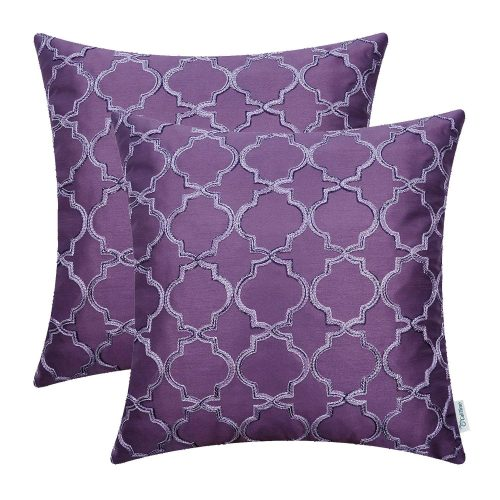 CaliTime Quatrefoil Accent Pillow Covers