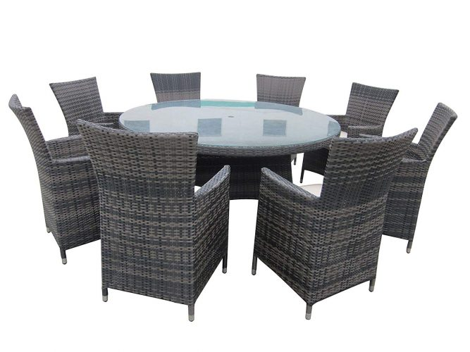 SMU Wicker Dining Set