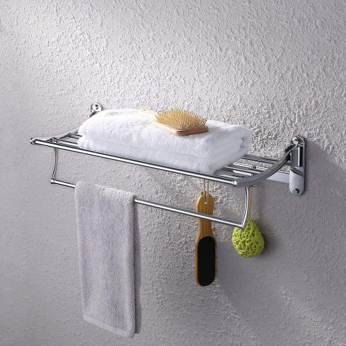 KES Towel Rack with Foldable Towel Rack