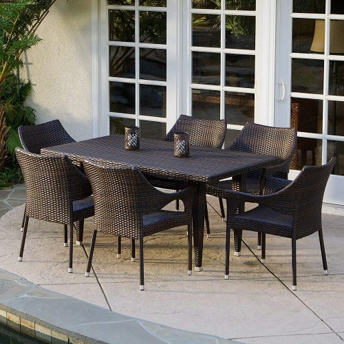 Stacking Patio Dining Wicker Set