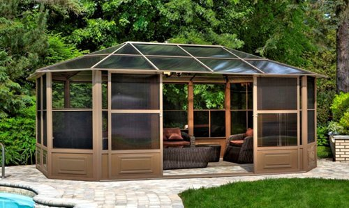 Penguin All-Season Solarium - Gazebos for High Winds