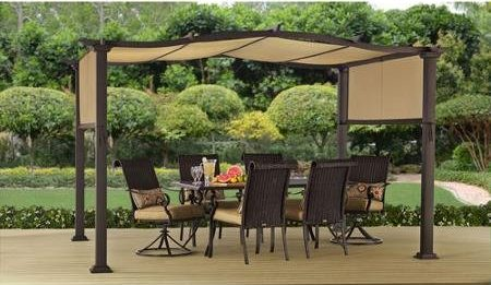 Outdoor Patio Shelter Steel Pergola