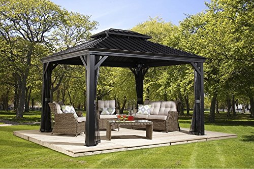 Sojag Messina Hard Top Sun Shelter - Gazebos