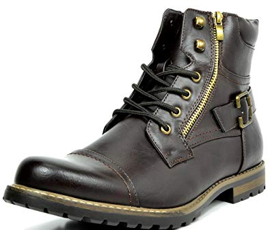 Military Motorcycle Combat Boots by Bruno Marc - Men Motorcycle Combat Boots