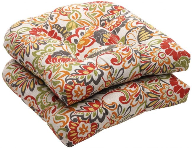 Perfect Pillow Multicolored Modern Floral Seat Cushions