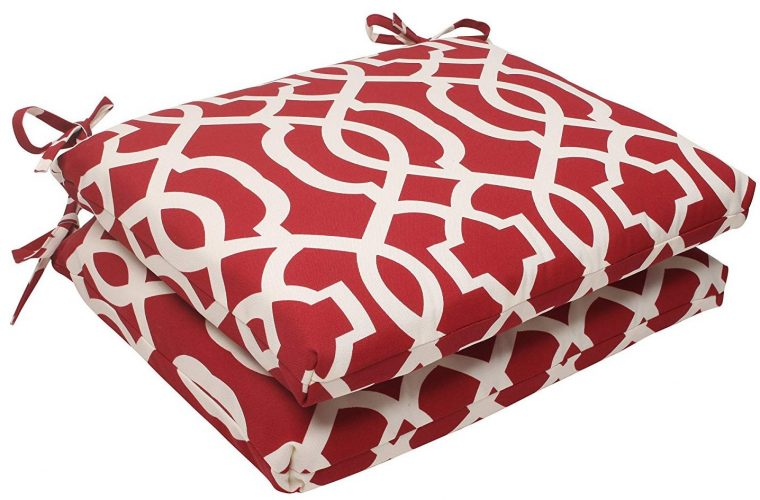 Pillow Perfect New Geo Square Seat Cushion