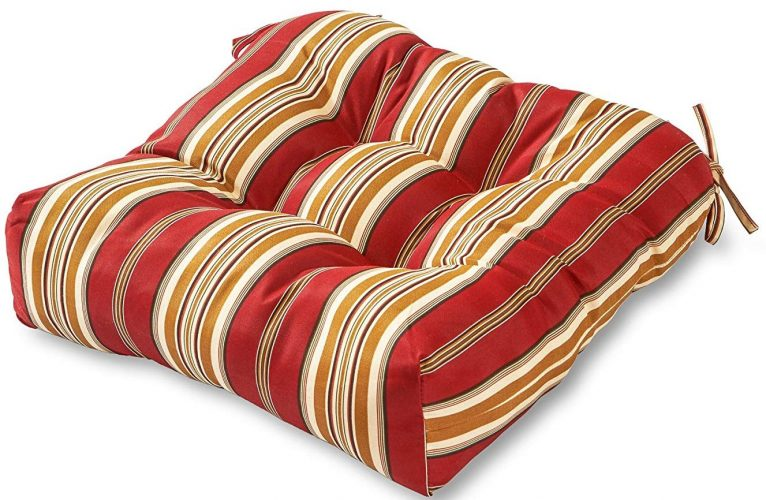 Roma Stripe Greendale Home Outdoor Seat Cushions - Patio Chair Seat Cushions