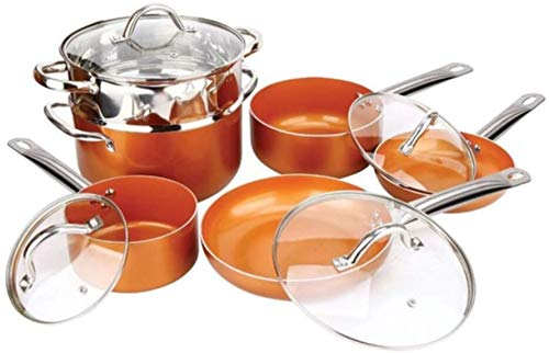 TV Direct Induction Nonstick Copper Cookware Set