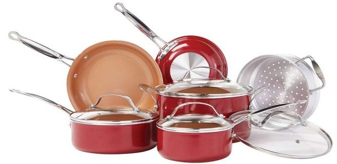 BulbHead Red Copper Cookware Set