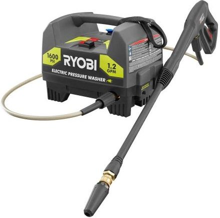 Ryobi Hand-Carried Electric Pressure Washer - Electric Pressure Washers