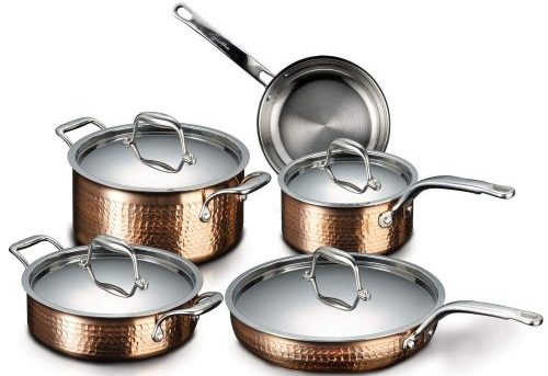 Lagostina Martellata Copper Cookware Set
