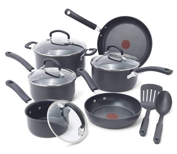 T-Fal Anodized Cookware Set - Hard Anodized Cookware Sets