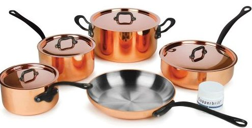Mauviel M'heritage Copper Cookware Set - Copper Cookware Sets