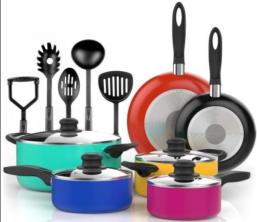 Vremi Nonstick Cookware Set - Affordable Cookware Sets