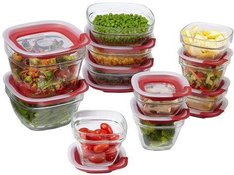 Rubbermaid Glass Food Storage Container Set