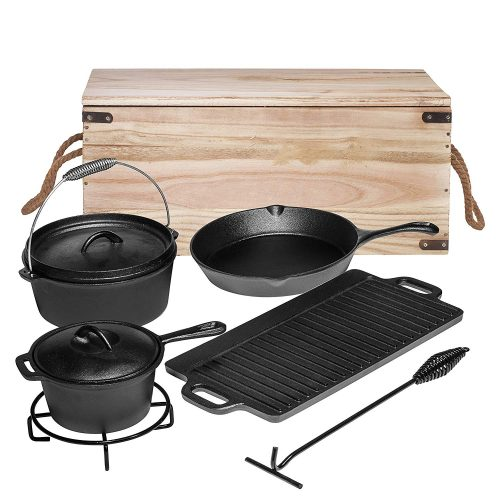 Bruntmor Seven-Piece Camping Cooking Set