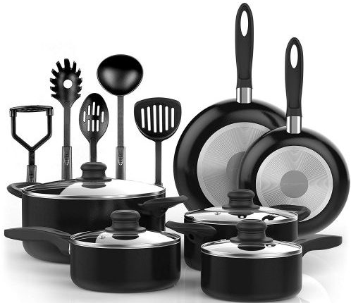 Vremi 15-Piece Cookware Set