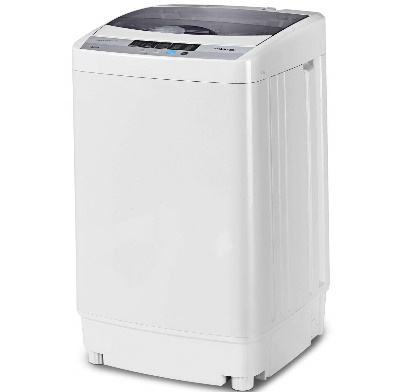 Giantex Full-Automatic Washing Machine Portable Compact 1.6 Cu.ft Laundry Washer Spin with Drain Pump, 10 programs 8 Water Level Selections with LED Display 12 Lbs Capacity B078MGY2CS