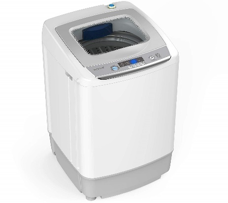 hOmeLabs 0.9 Cu. Ft. Portable Washing Machine - 6 Pound Capacity, Top Loading, 5 Wash Cycles, 3 Water Level Selections and LED Display - Perfect for Apartments, RVs and Small Space Living B07VRDN8B9