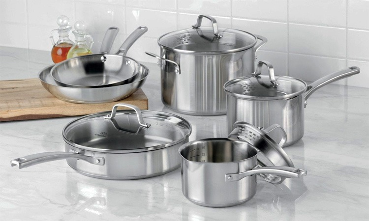 top 10 best stainless steel cookware sets in 2018 a must have. Black Bedroom Furniture Sets. Home Design Ideas