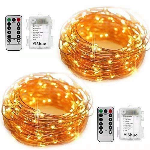 YiShuo Two-Pack LED String Lights