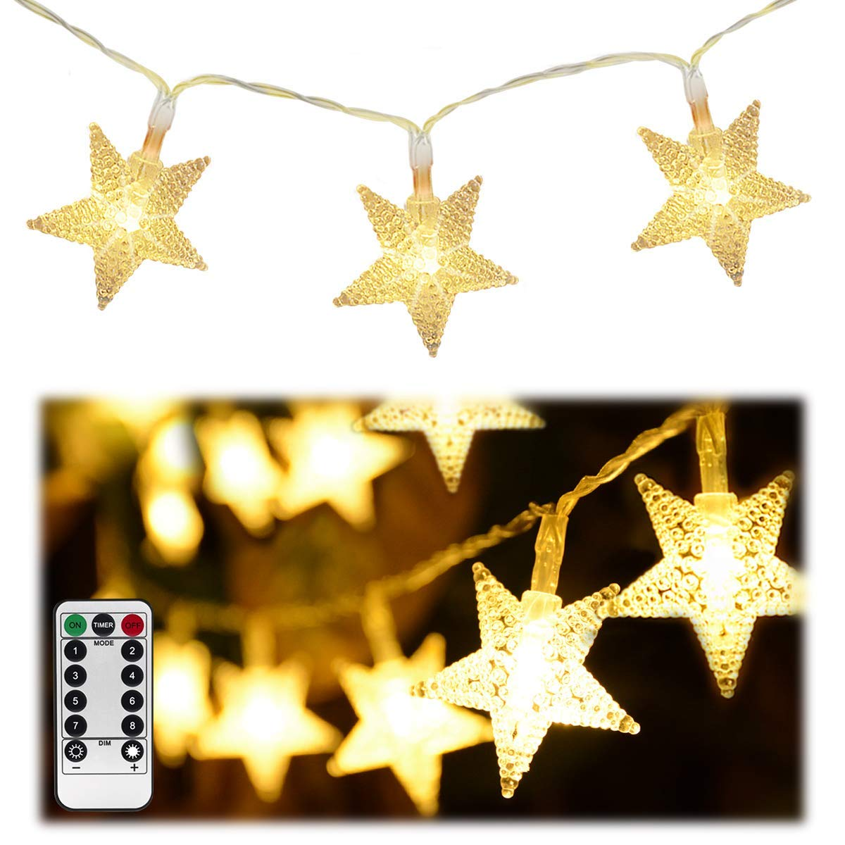 HOMELEO White LED Fairy Lights