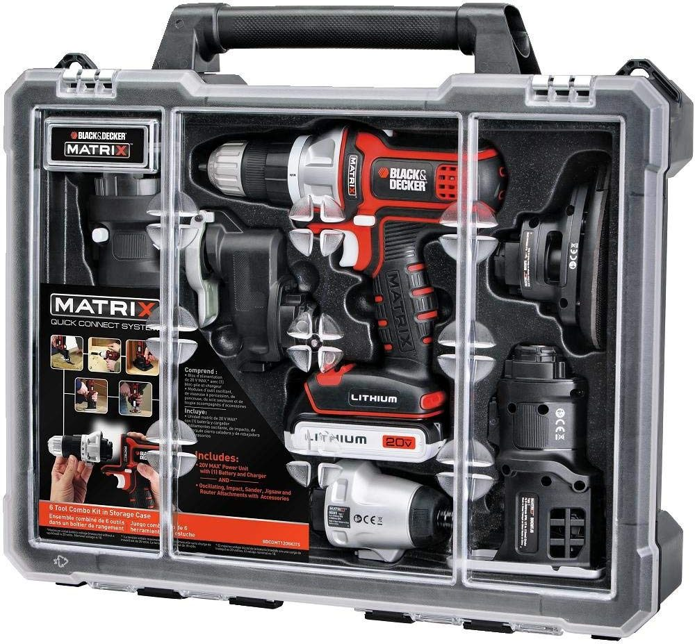 Black & Decker Tool Combo Kit with Case - Christmas Gifts For Him