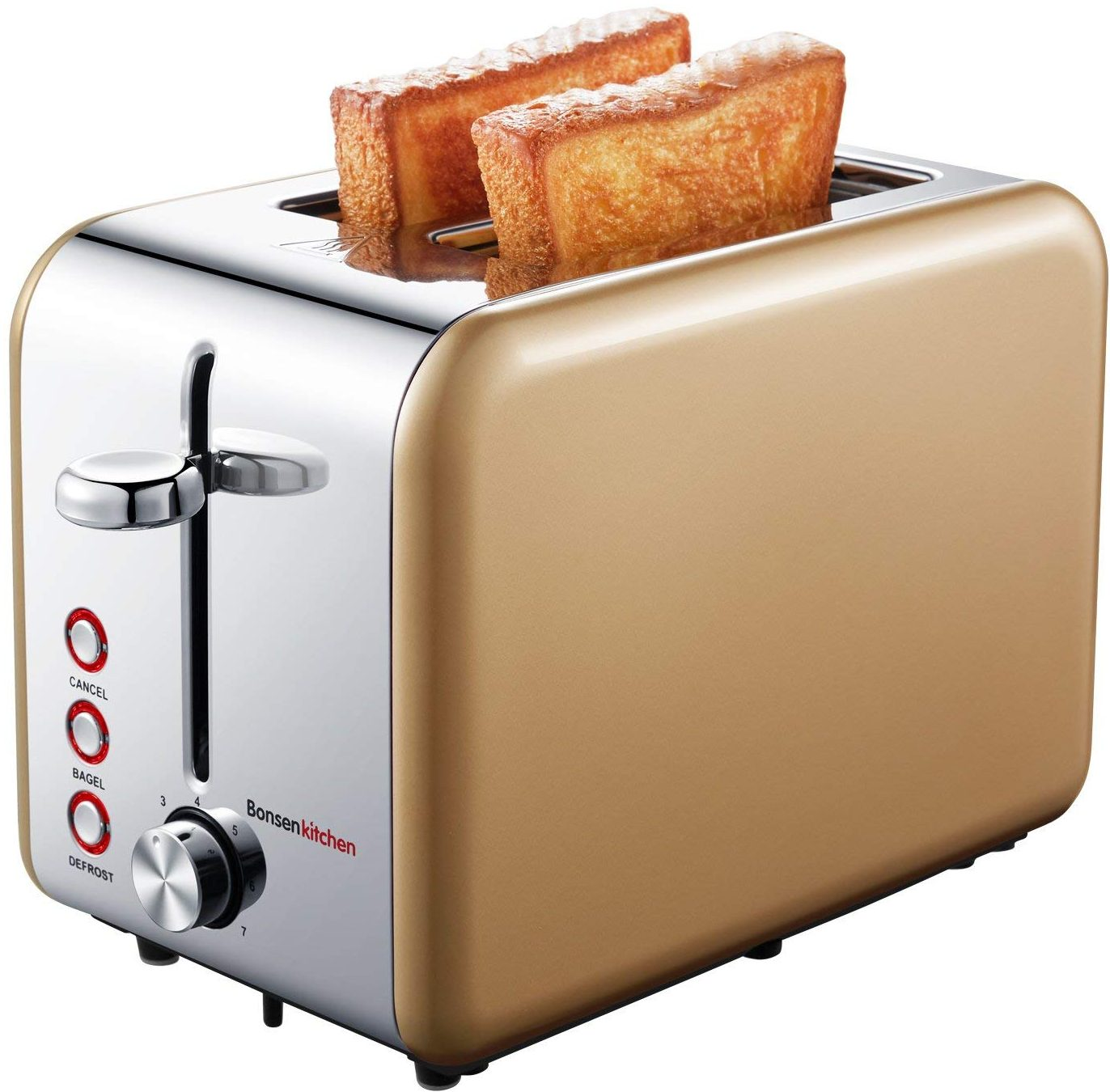 Bonsenkitchen Wide-Slot Toaster