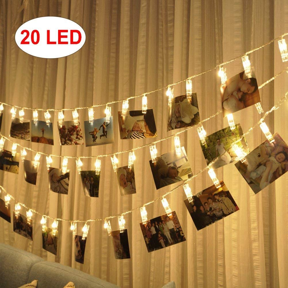 KEKH Photo Clips LED String Lights