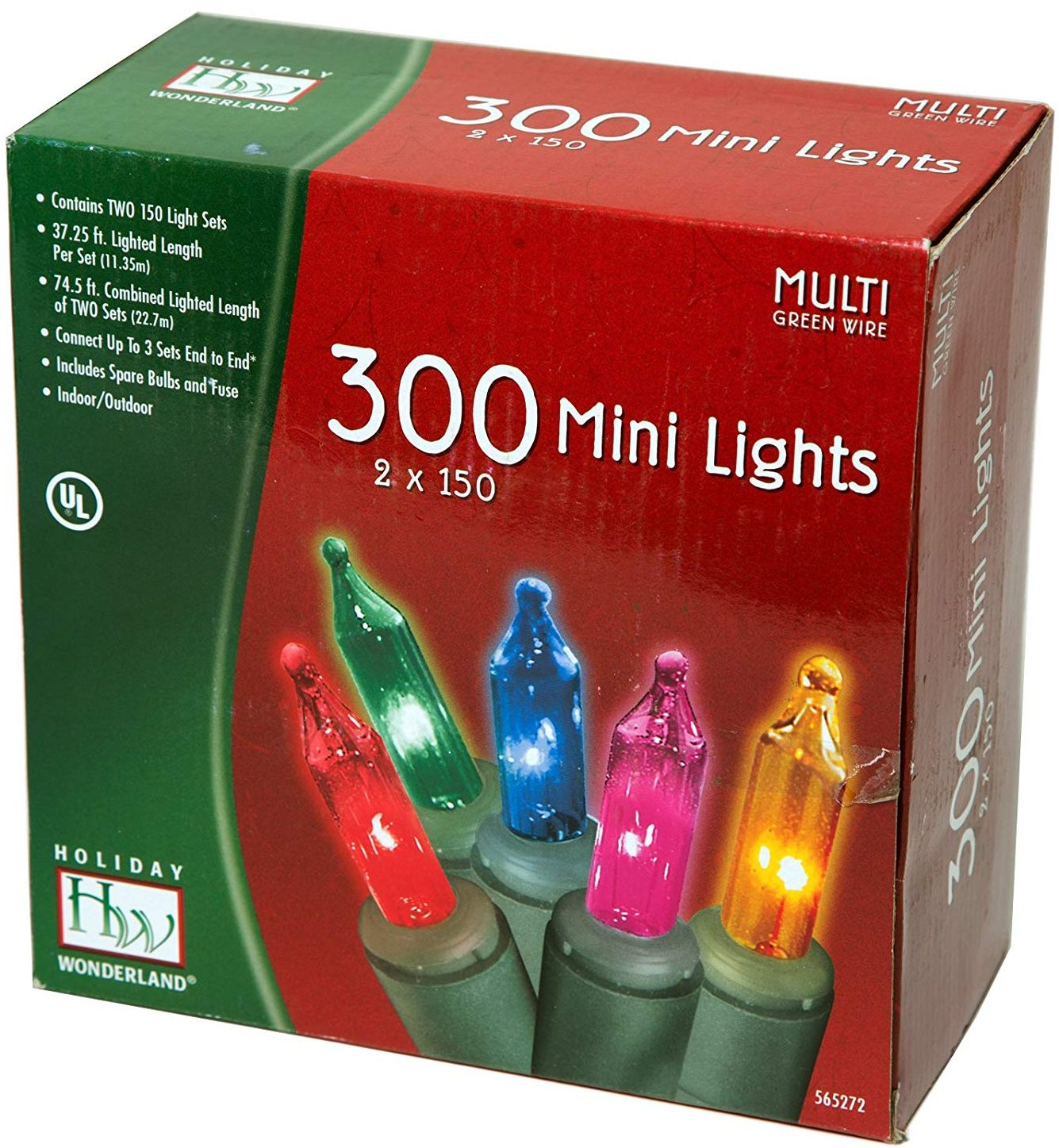 Holiday Wonderland Mini Multi Color Christmas Lights