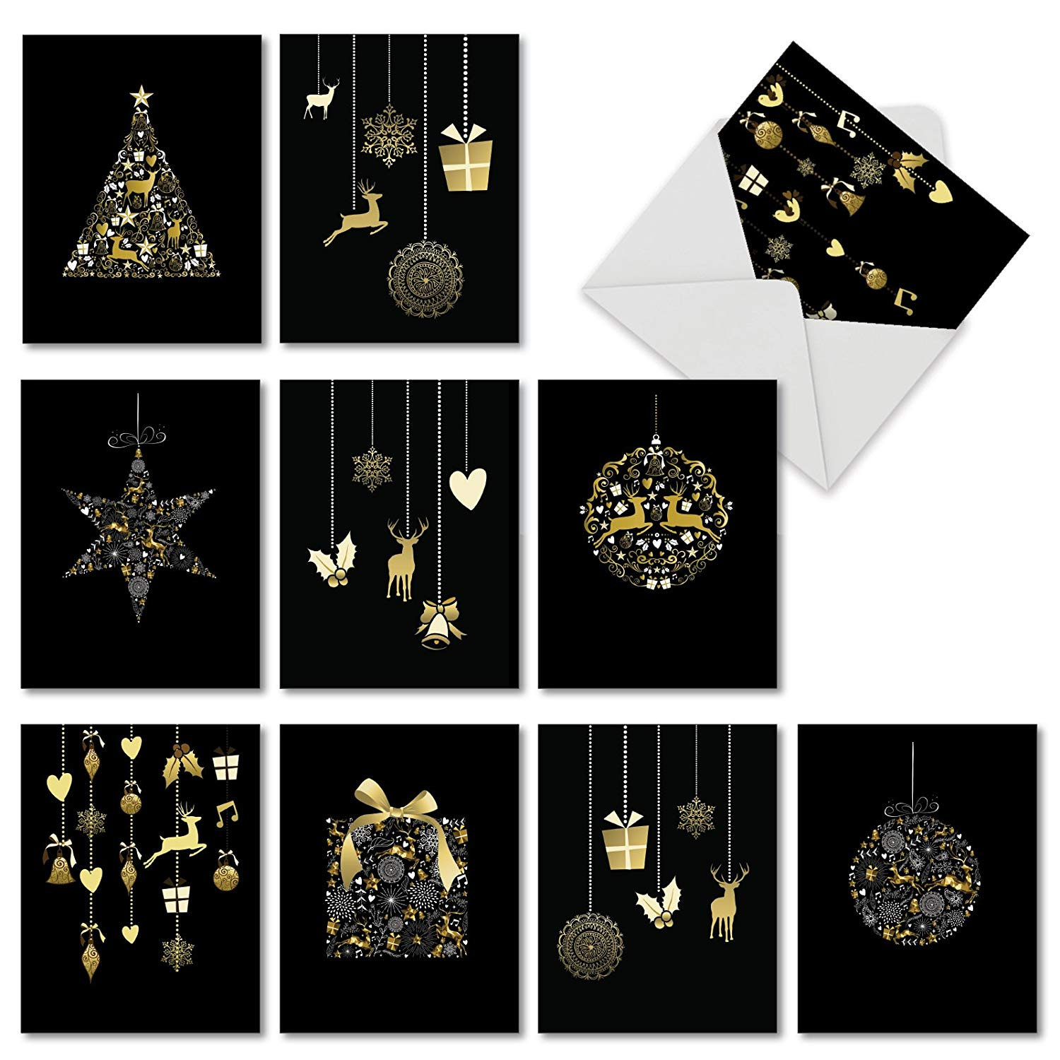 Golden Assorted Holiday Cards