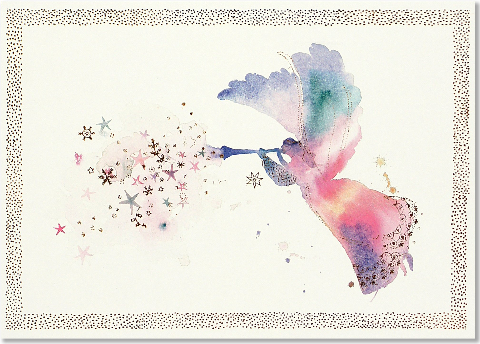 Water Color Angel Deluxe Holiday Cards