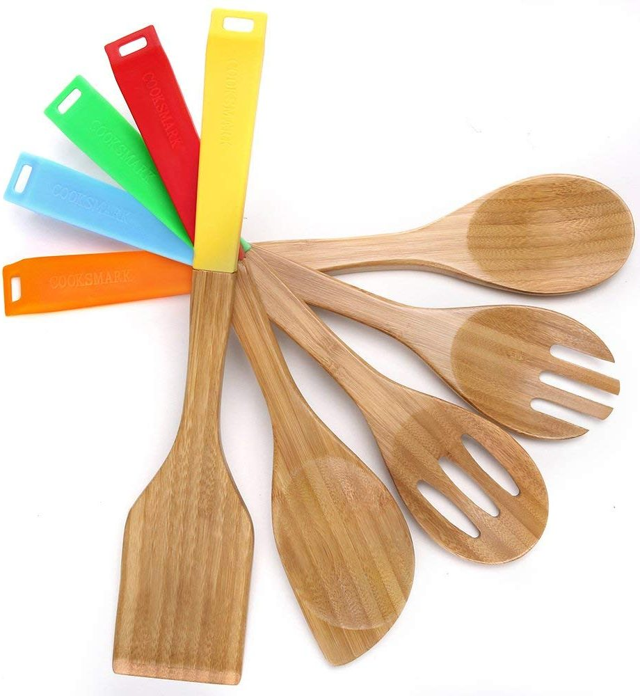 COOKSMARK Wooden Nonstick Cooking Utensils