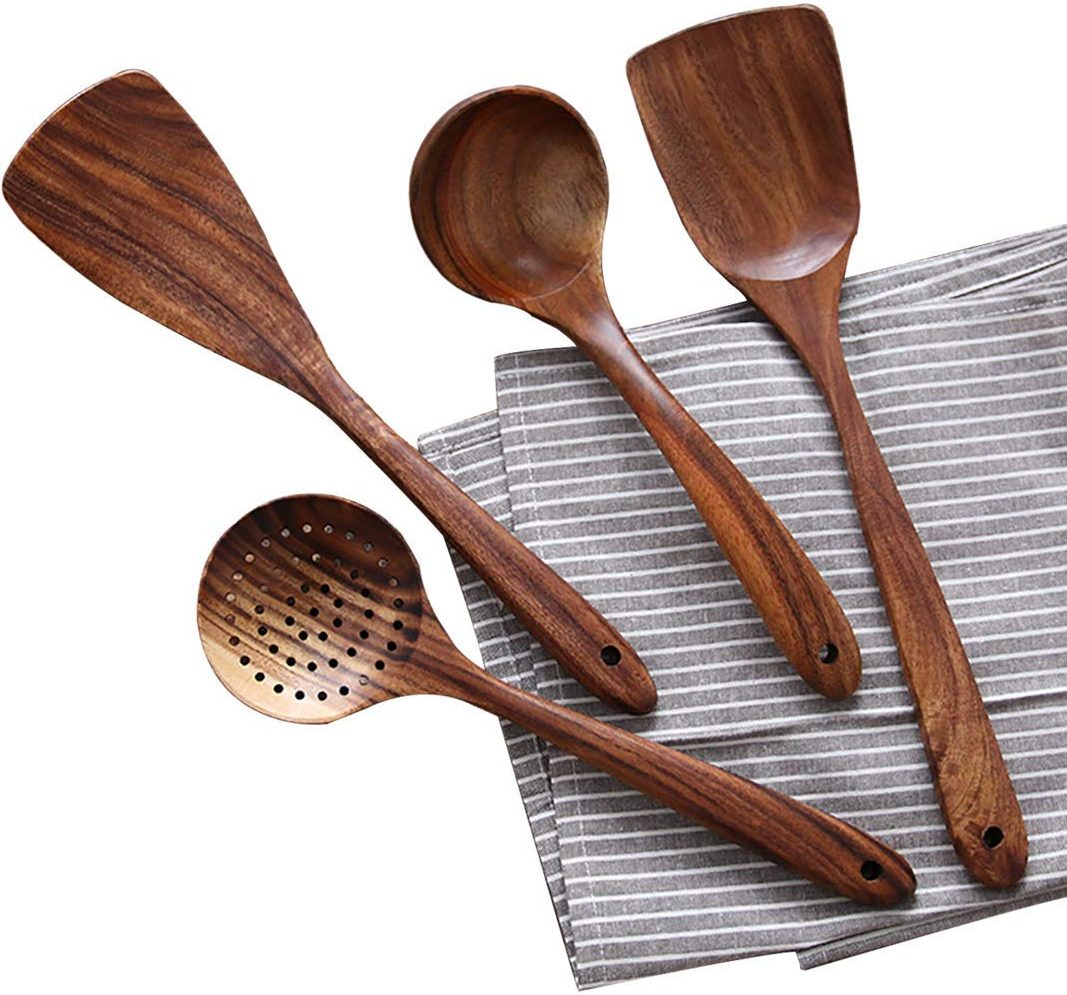UBae Teak Utensil Set
