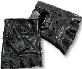 Interstate Leather Fingerless Driving Gloves