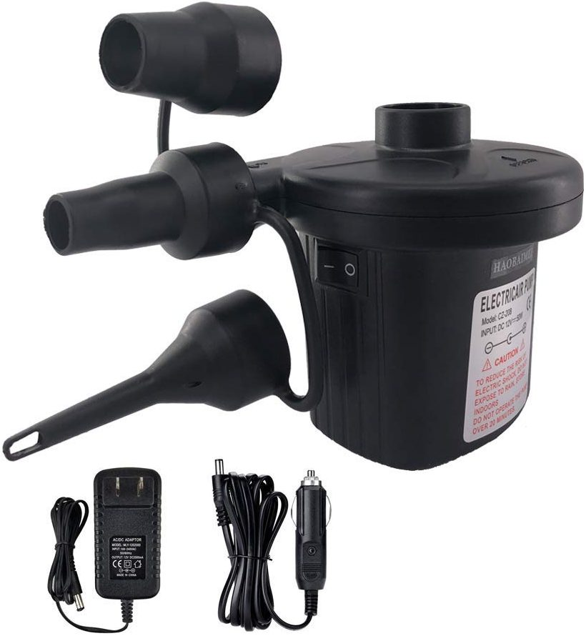 HAOBAIMEI Electric Air Pump, Quick-Fill Air Pump