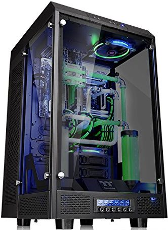 Thermaltake Tower 900 Tempered Glass Fully Modular E-ATX Vertical Super Tower Gaming Computer Case Chassis Black Edition
