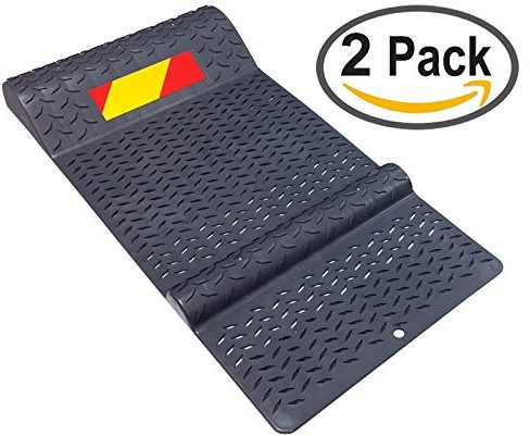 Electriduct Pair of Plastic Park Right Parking Mat Guides for Garage Vehicles - Garage Mats