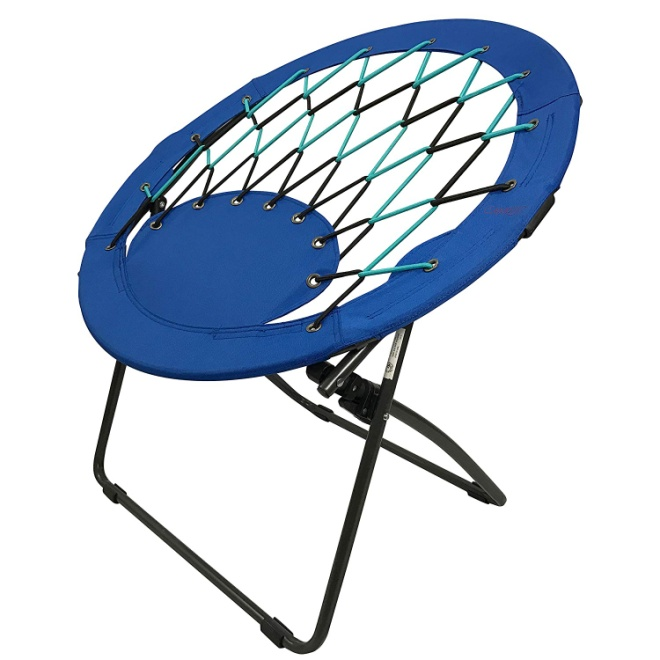 CAMPZIO Bungee Dish Chair Round Bungee Chair