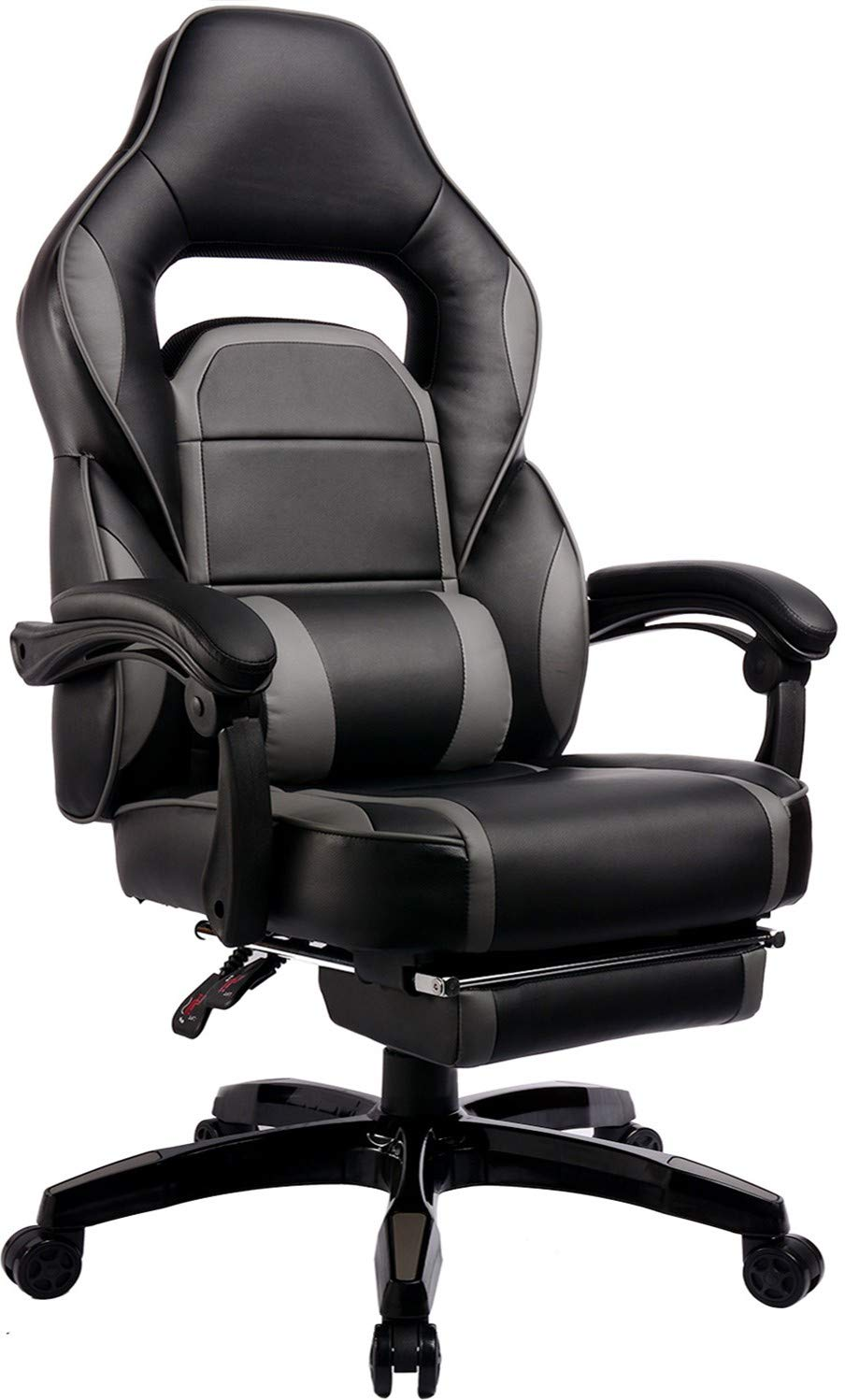 GTRACING Gaming Chair with Footrest High Back Ergonomic Racing Chair Napping Computer Office Chair GTF36 Gray