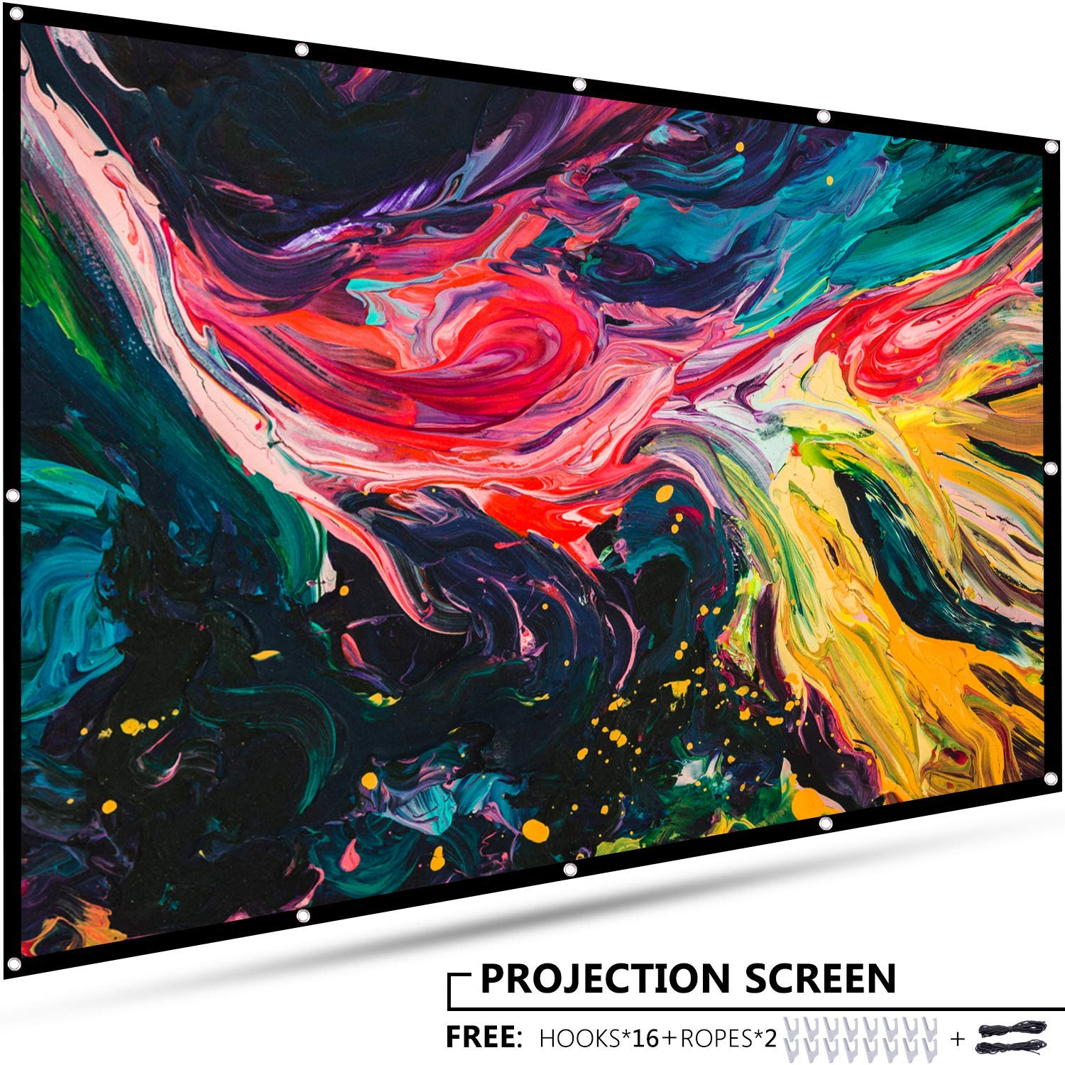 EleTab 120 inch Portable Projector Screen