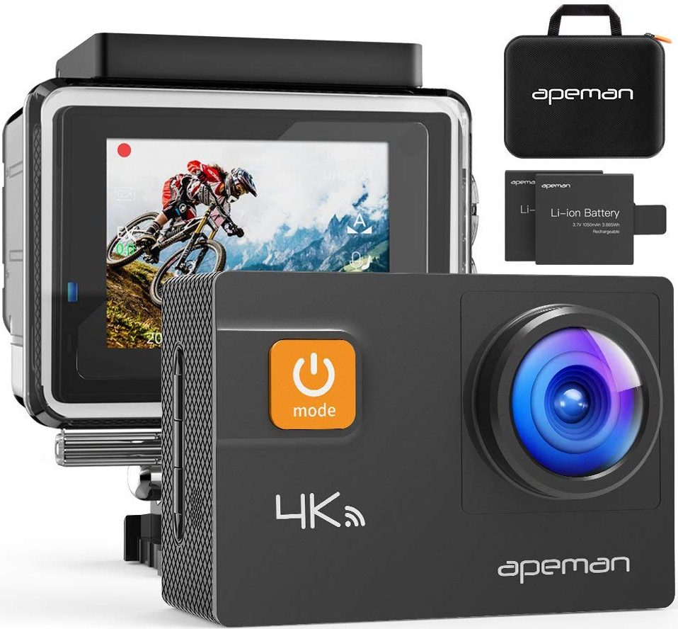 APEMAN Action Camera 4K 20MP WiFi Ultra HD Underwater Waterproof 40M Sports Camcorder