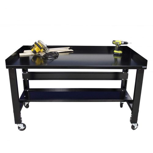 Borroughs Black Painted Top Workbench
