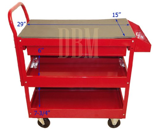 Red Mobile Rolling Work Bench