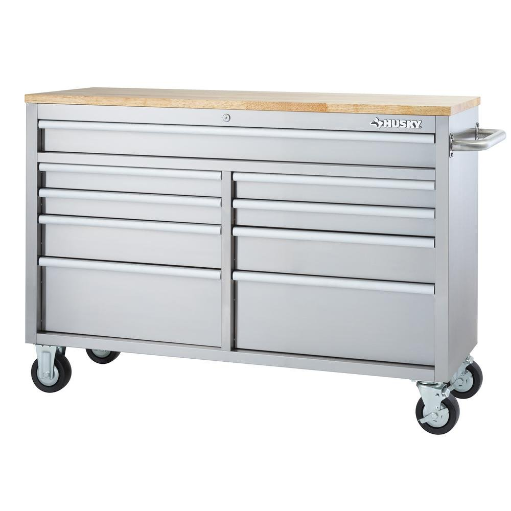 Husky 52 in 9 Drawer Rolling Work Bench